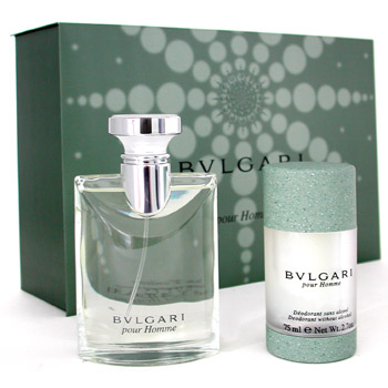 fragrances & cosmetics  - BVLGARI POUR HOMME COFFRET: EAU DE TOILETTE SPRAY 100ML + DEODORANT STICK 75ML