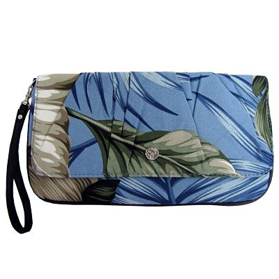 escape to paradise - BANANA LEAF FABRIC - CAPRI CLUTCH