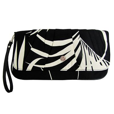 escape to paradise - BLACK PALMS FABRIC - CAPRI CLUTCH
